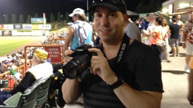 "Nick capturing photos at ""The Joe"" for CDTA night!"